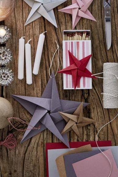 Papiersterne für Weihnachten falten