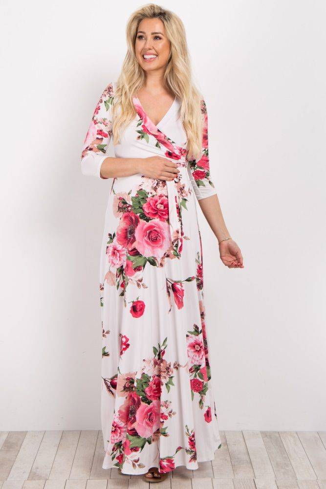 7a1b0871a2d The perfect dress to start off this summer season! A gorgeous floral print  and bright hues will make you stand out in style. A sash tie beautifully  shows ...