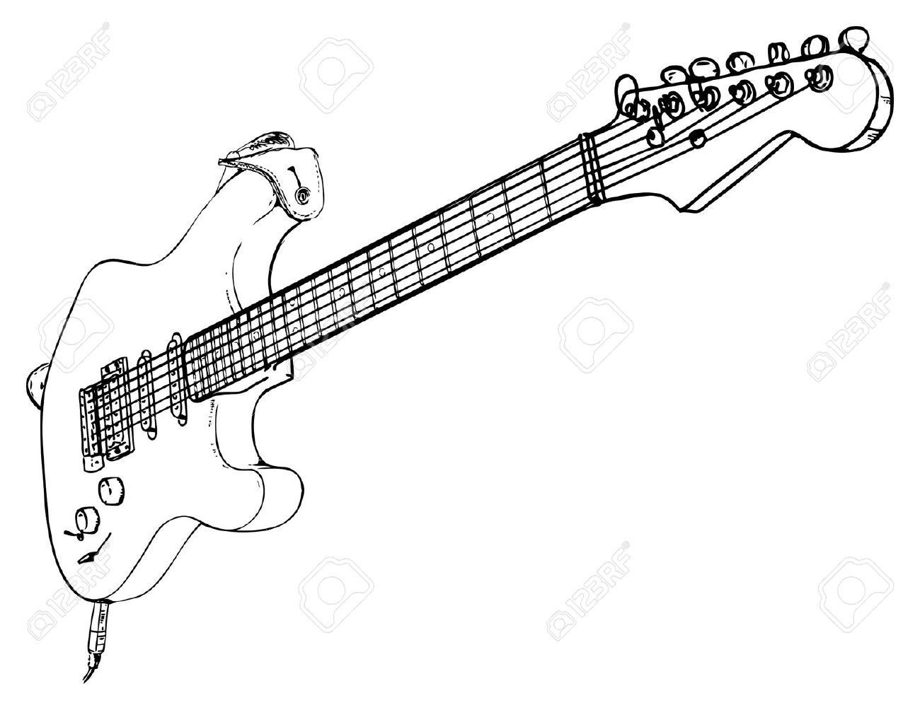 Electric Guitar Sketch