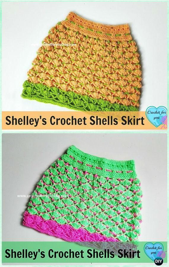 Crochet Shells Skirt Free Pattern - Crochet Girls Skirt Free ...