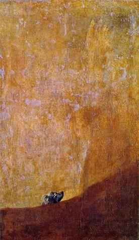 Francisco Goya  The Dog, 1820-1823