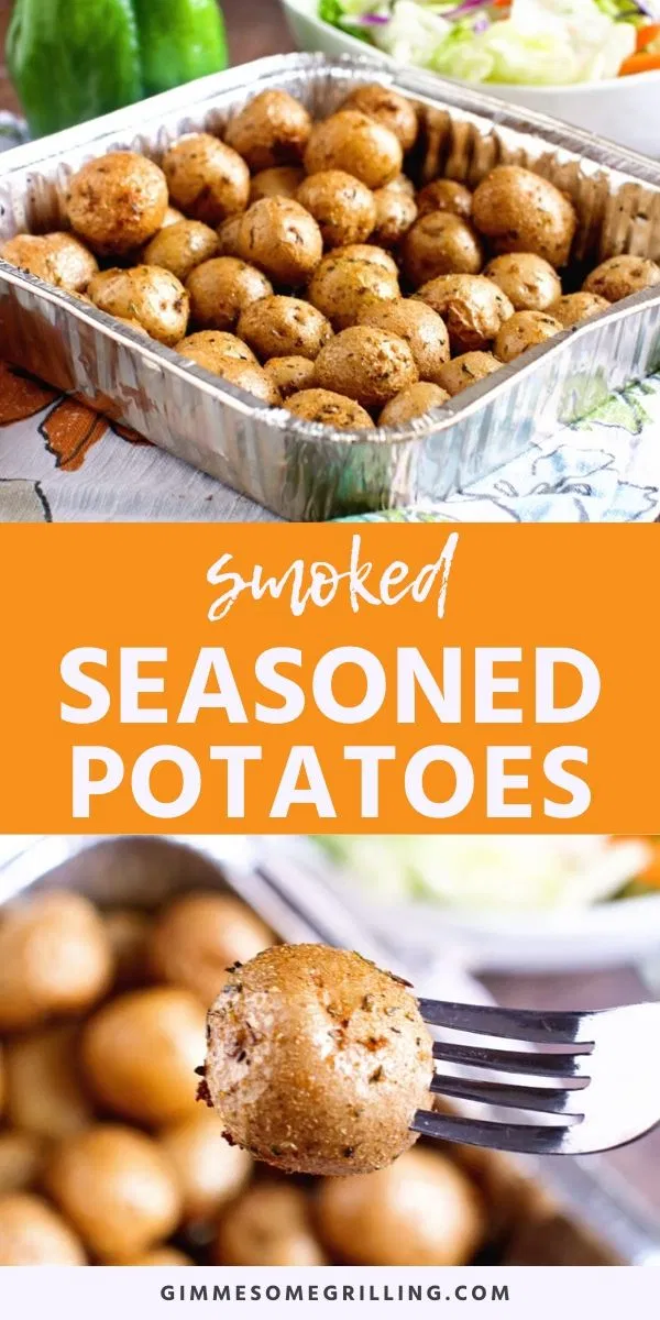 These Seasoned Smoked Potatoes Are Creamer Potatoes With A Delicious Blend Of Seasonings Including G In 2020 Smoked Food Recipes Smoked Potatoes Side Dish Recipes Easy