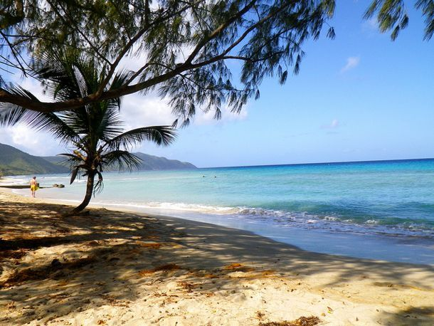 Cane Bay Beach on the north shore of St Croix