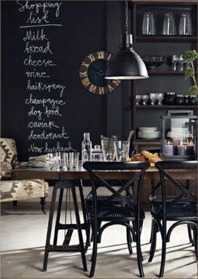 Blackboard kitchen