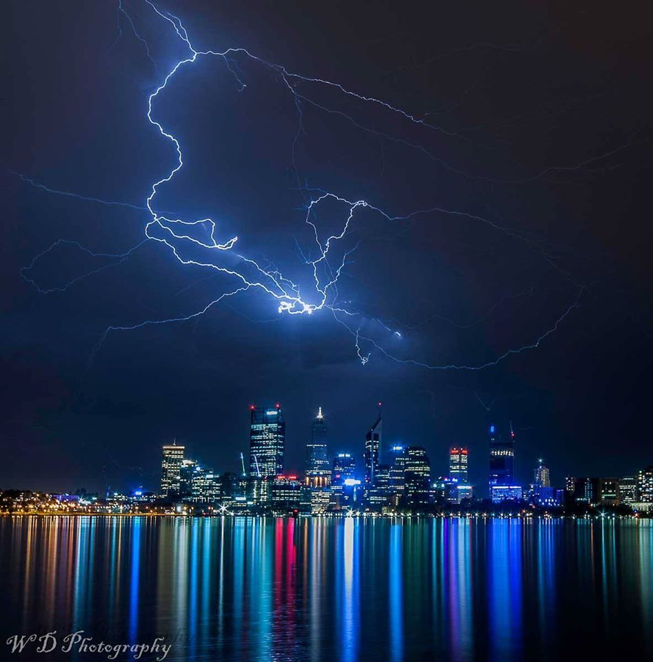 Perth Western Australia Last Nights Light Show