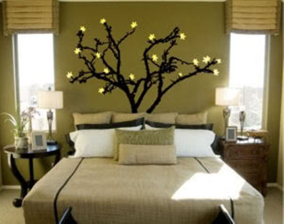 Wall painting designs for bedrooms ideas a tree cool for Wall design with paint