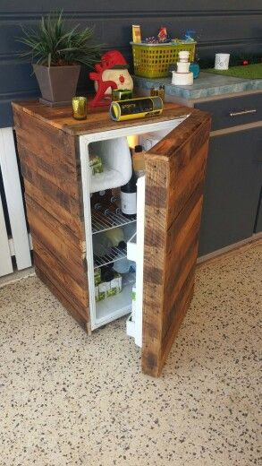 Pallet Fridge Wood Pallets Diy Projects Furniture