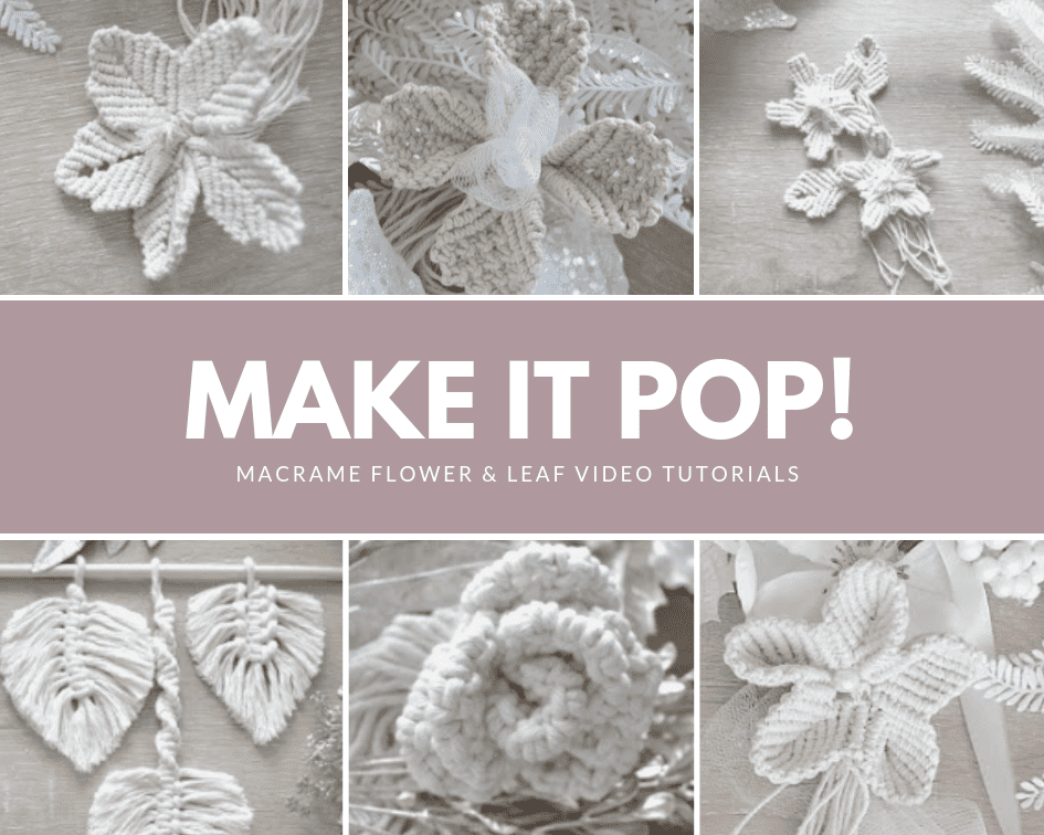 How To Make Different Types of Macrame Flowers & Leaf