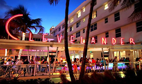Miami South Beach Clevelander Hotel A Five Story Known For Its Outdoor Poolside Bar