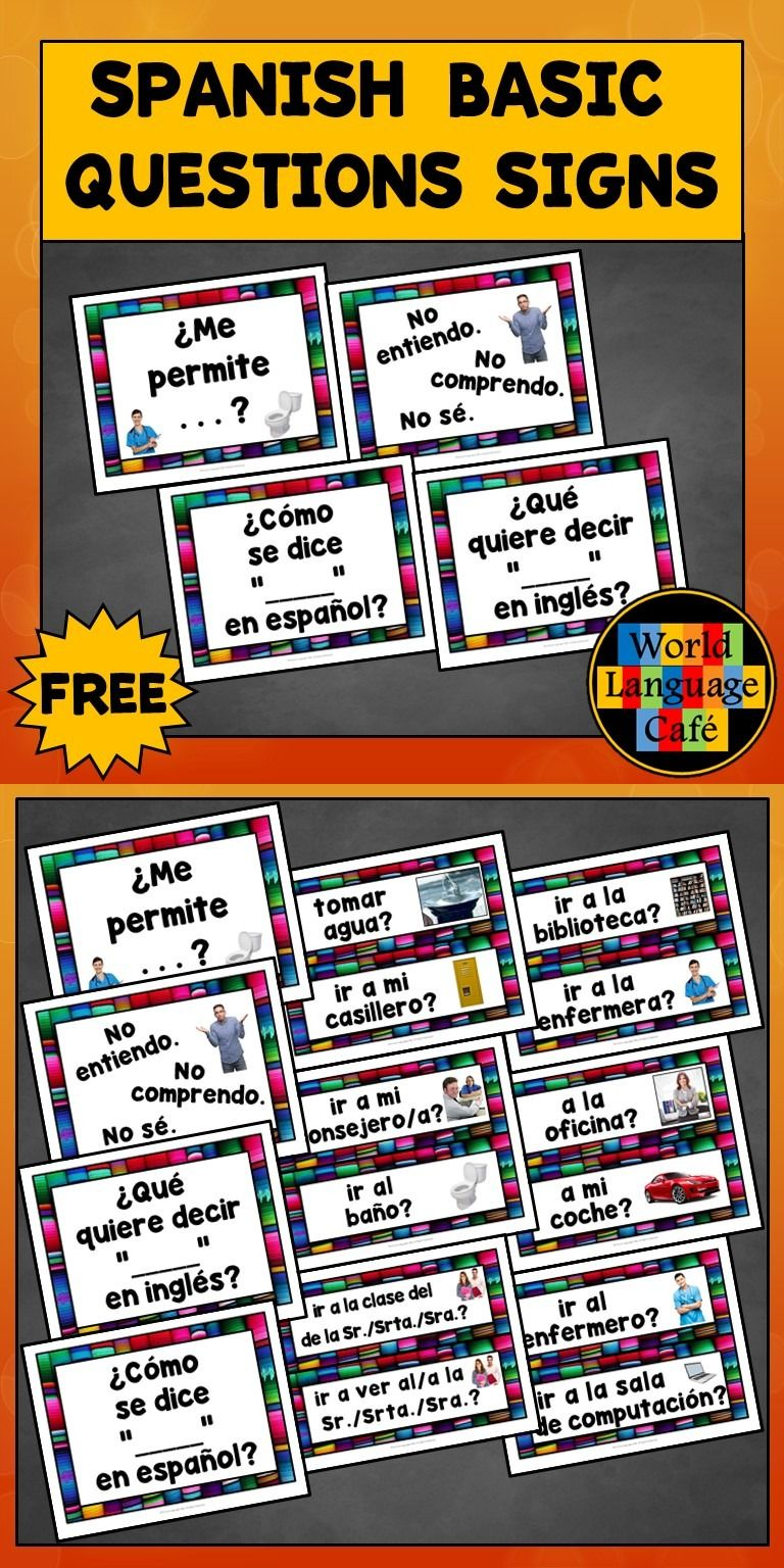 Colorful Spanish class decor - great for decorating your ...