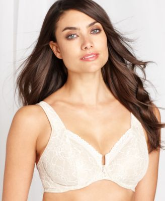 addeb1cca0664 Bali Satin Tracings Lace Minimizer Bra 3446 - Gray 40DDD