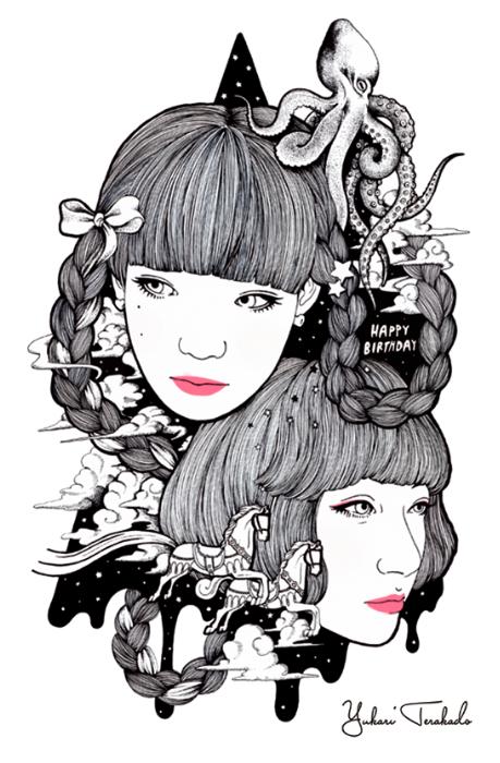 HAPPY BIRTHDAY_ T- SHIRTS Design by Yukari Terakado, via Behance