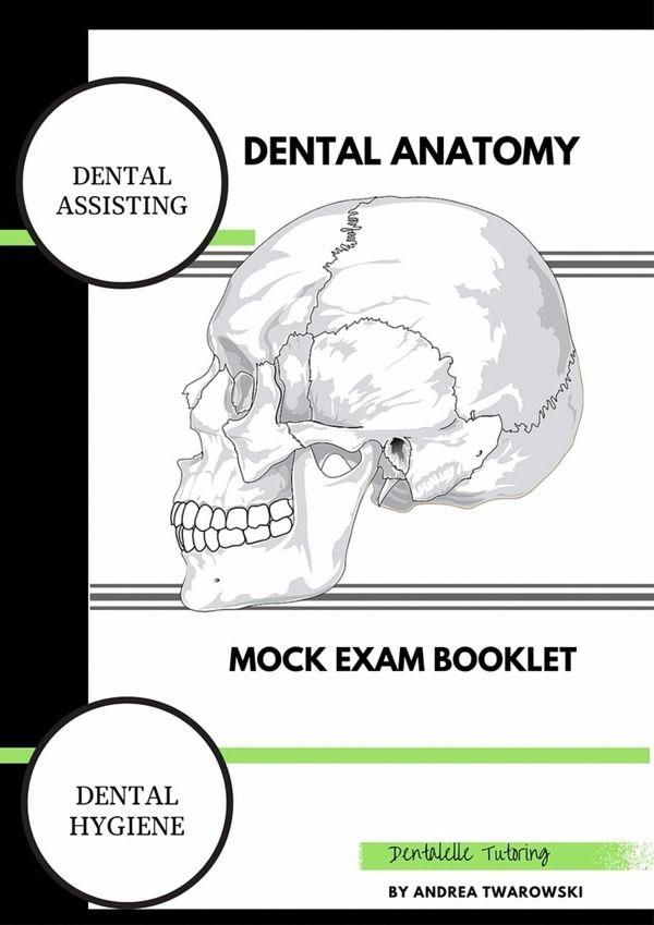 $% Mock Exam Booklet for Dental Hygiene and Dental Assisting Students!  By Dentalelle Tutoring! #onselz #DentalHygienistCup #dentalfacts