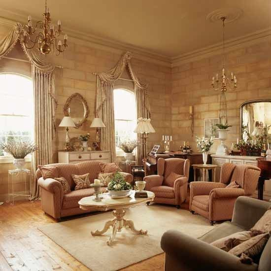 Elegant Traditional Living Room Furniture: Trompe L'oeil Living Room