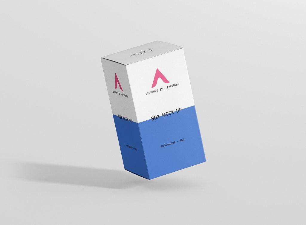 1501+ Box Mockup Custom Size PSD File