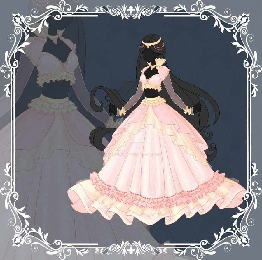 Pink dress drawing  Close Adoptable Outfit Auction  by LifStrange  Манга  Pinterest