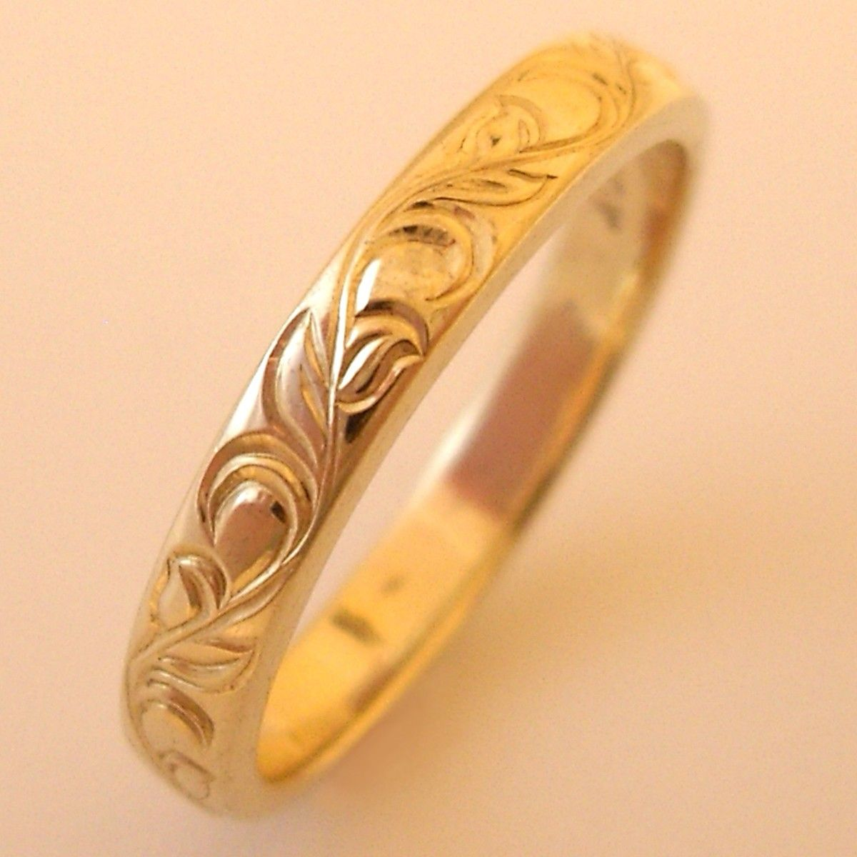 Yellow Gold Wedding Bands Etsy