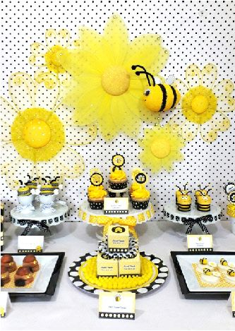 Honey Bee Birthday Party Printables Supplies Decorations