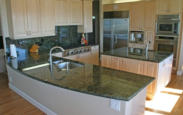 Beautiful Labradorite Green Granite Countertops (3406), Labradorite Green, Hollywood  Park, Texas