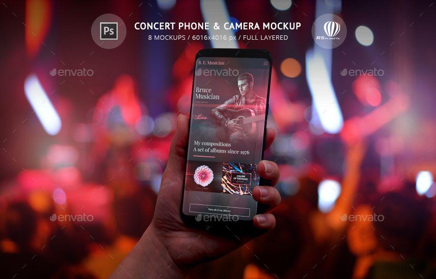 Concert Phone Camera Mockup Concert Mockup Creative Photoshop