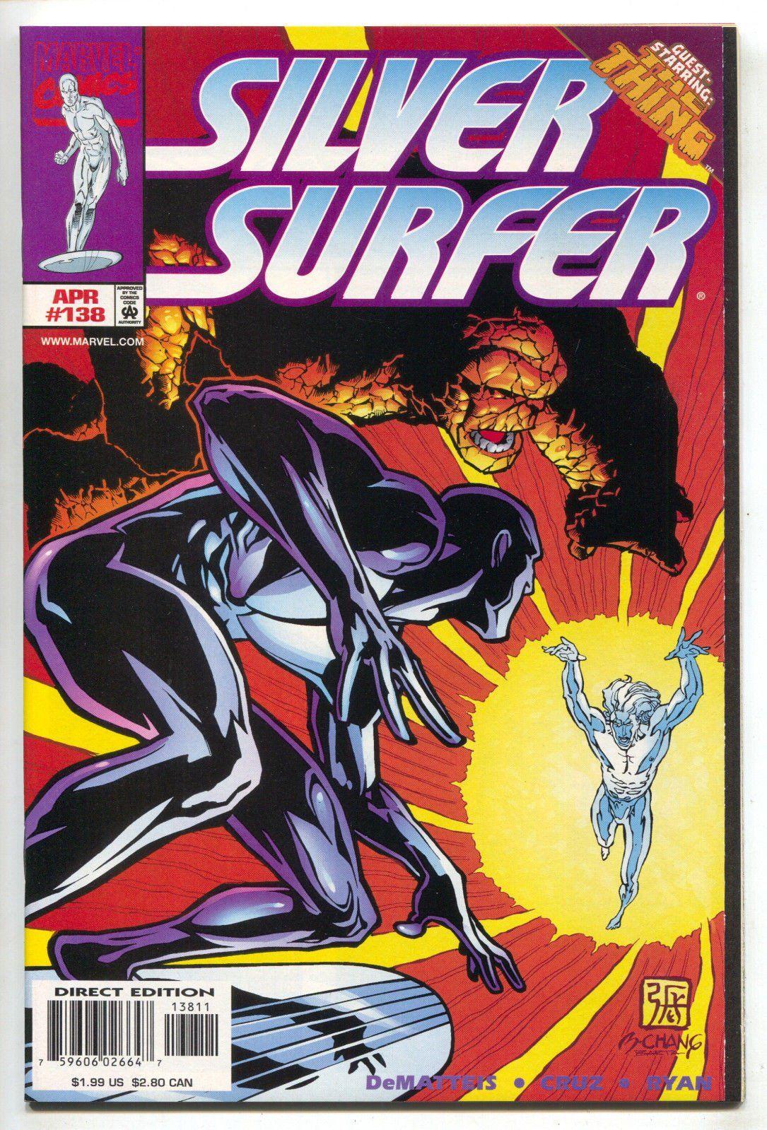 Silver Surfer 138 2nd Series Marvel 1998 NM Thing Bernard Chang