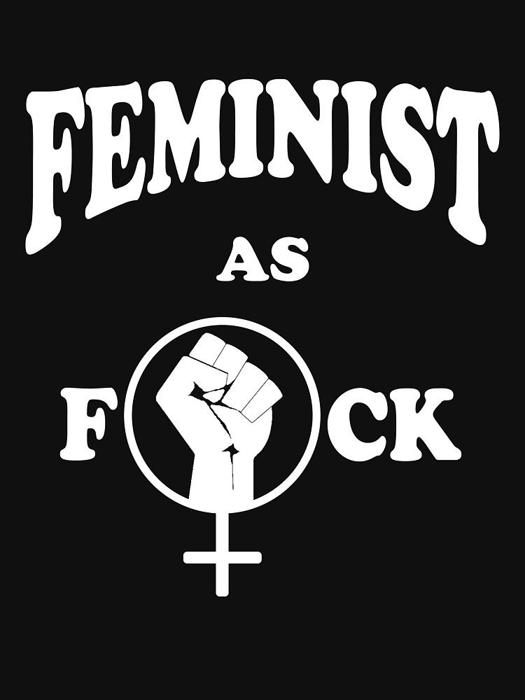 Feminist As Fuck Womens Fitted Scoop T Shirt