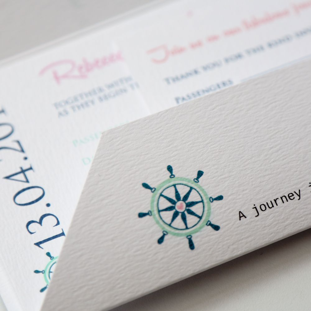 nautical wedding invitations | Quirky Nautical Boarding Pass Travel ...