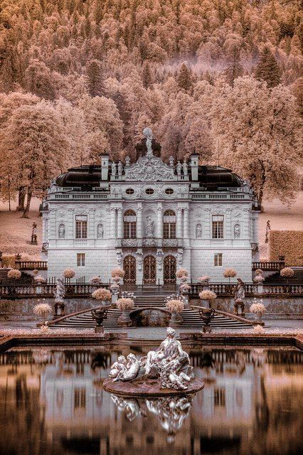 schloss linderhof ettal germany sch n pinterest burg schloss und deutschland. Black Bedroom Furniture Sets. Home Design Ideas