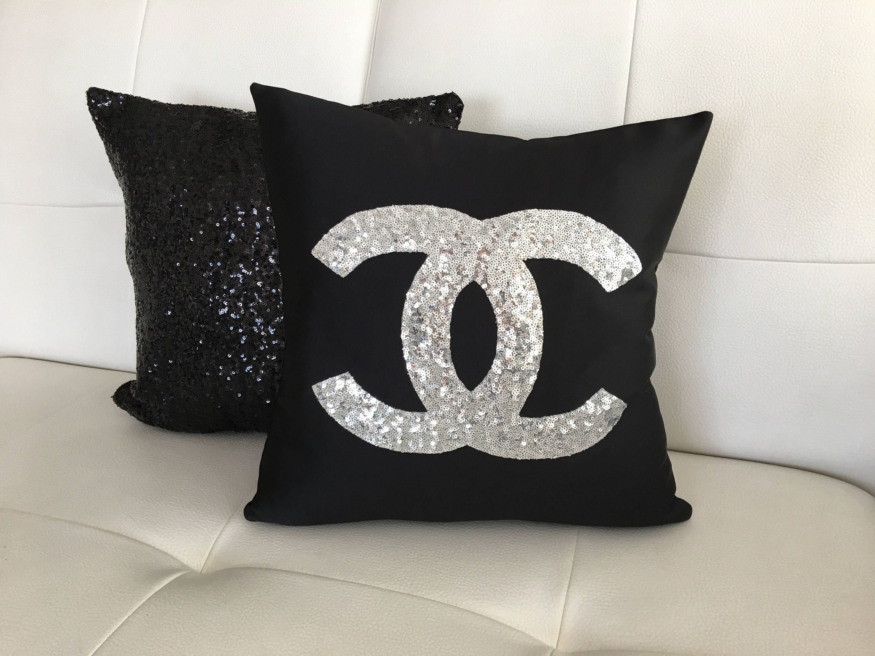 Set Of 2 Chanel PillowPillow Cover Sequins Pillow