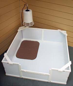 Ezwhelp Whelping Box W Heat Lamp Whelping Box