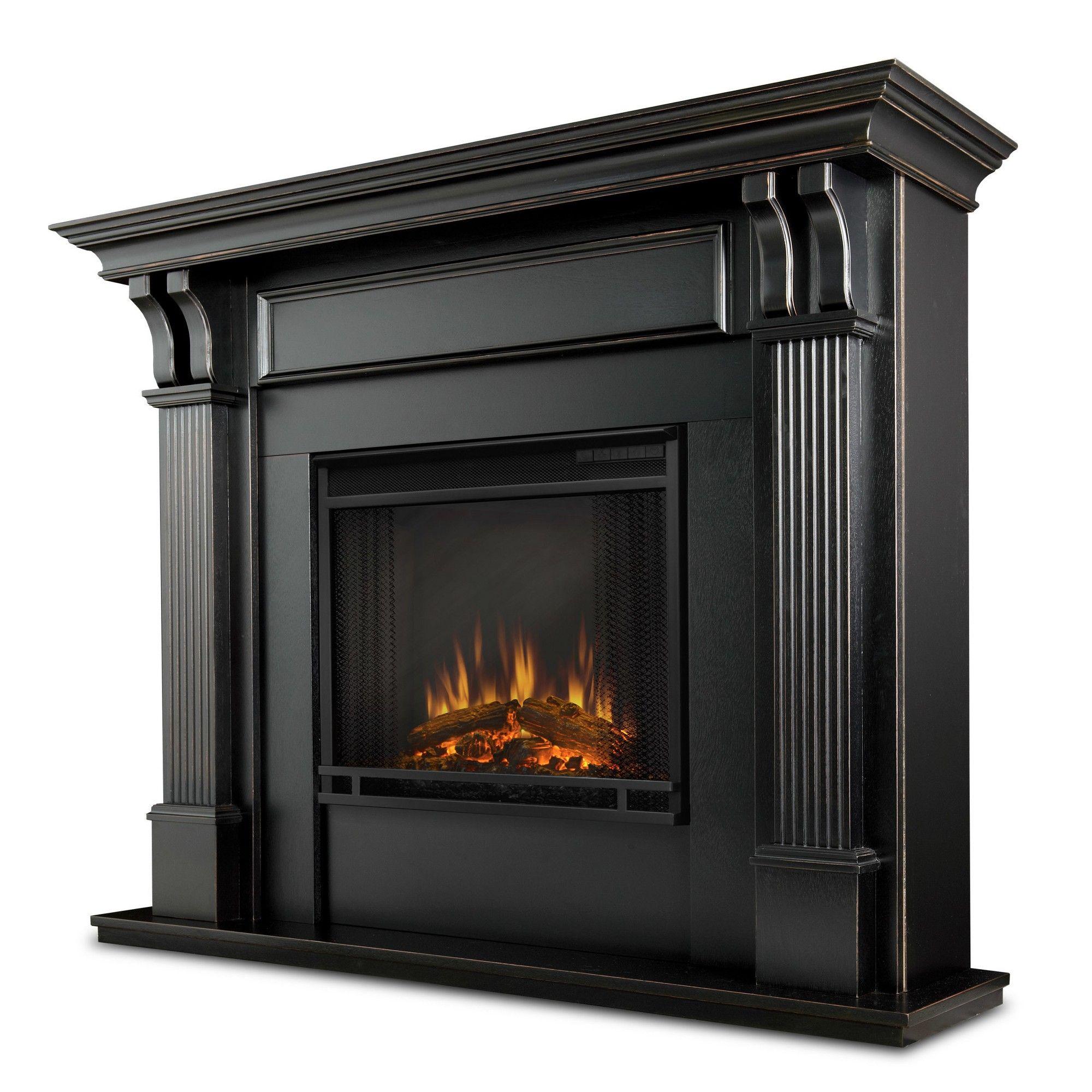 Real Flame Ashley Electric Fireplace Blackwash Blackwash Indoor Electric Fireplace Black Electric Fireplace Portable Fireplace