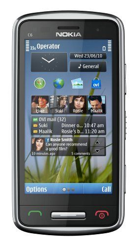 Nokia C6-01 Unlocked GSM Phone with 8 MP Camera, 720p Video Recording, and Ovi Maps Navigation--U.S. Version with Warranty (Silver)