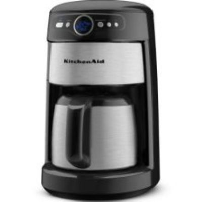 Kitchenaid Kcm223ob 12 Cup Thermal Carafe Coffee Maker Led Display Onyx Black Glass Coffee Maker Kitchen Aid Coffee Maker Coffee Maker Reviews