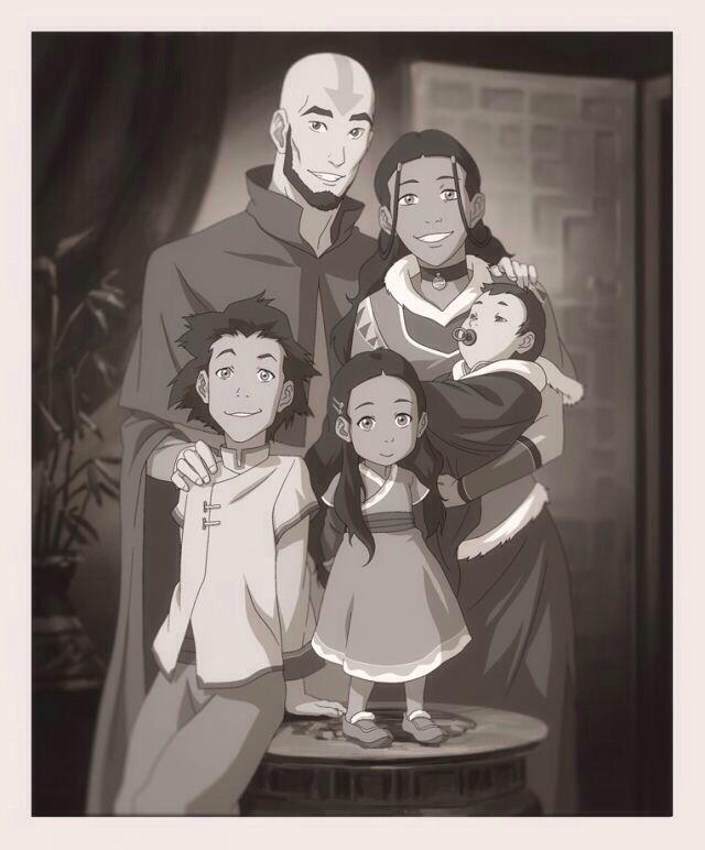 Baby Avatar 2: Aang, Katara, Bumi, Kya, And Baby Tenzin