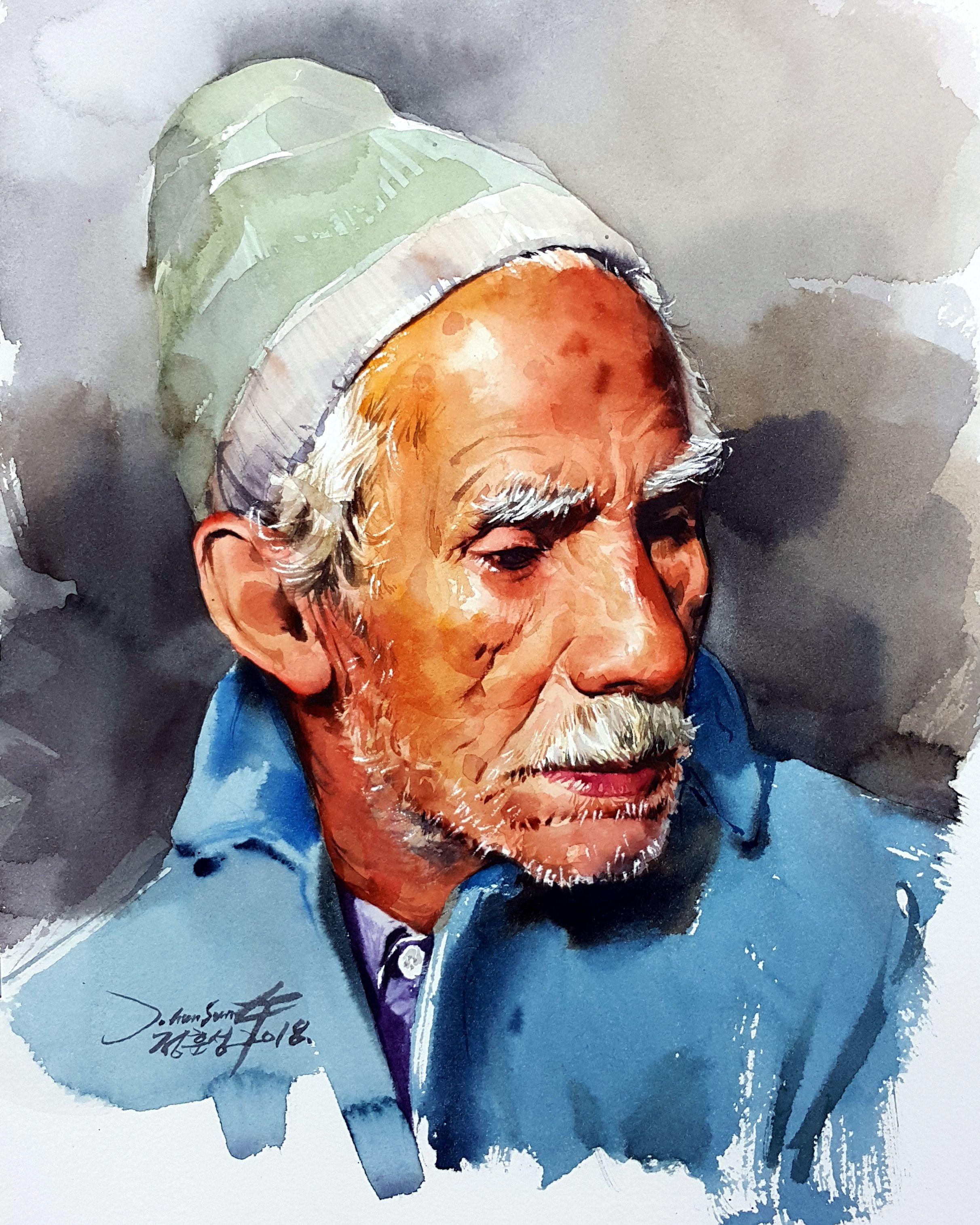 인물수채화 인물화 Watercolor Painting 정훈성 Portrait