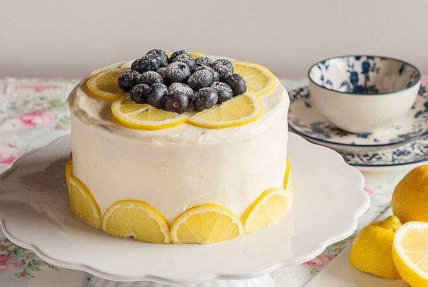 Nude Cake de limón y arándanos - Receta - María Lunarillos