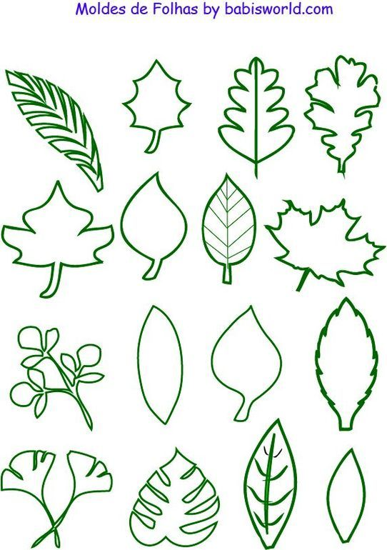 листья | Craft time | Pinterest | Leaves, Template and Stenciling