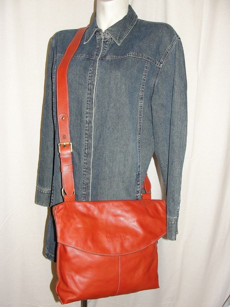 49b317be12788 AVORIO Italy Purse Rust Red Crossbody Italian Leather Messenger Handbag  Hobo  Avorio  Crossbody