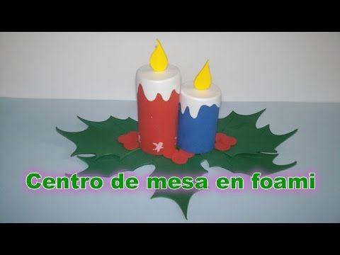 Navidad mu ecos de nieve tres super ideas foamy snowman - Centros de mesa navidenos hechos a mano ...