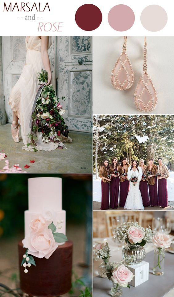 Marsala and rose winter wedding color ideas 2015 marsala dark wood marsala and rose winter wedding color ideas 2015 junglespirit Images