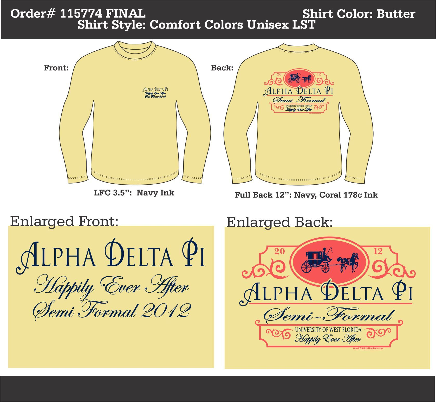 Alpha Delta Pi Happily Ever After Semi Formal  http://www.greekt-shirtsthatrock.com/