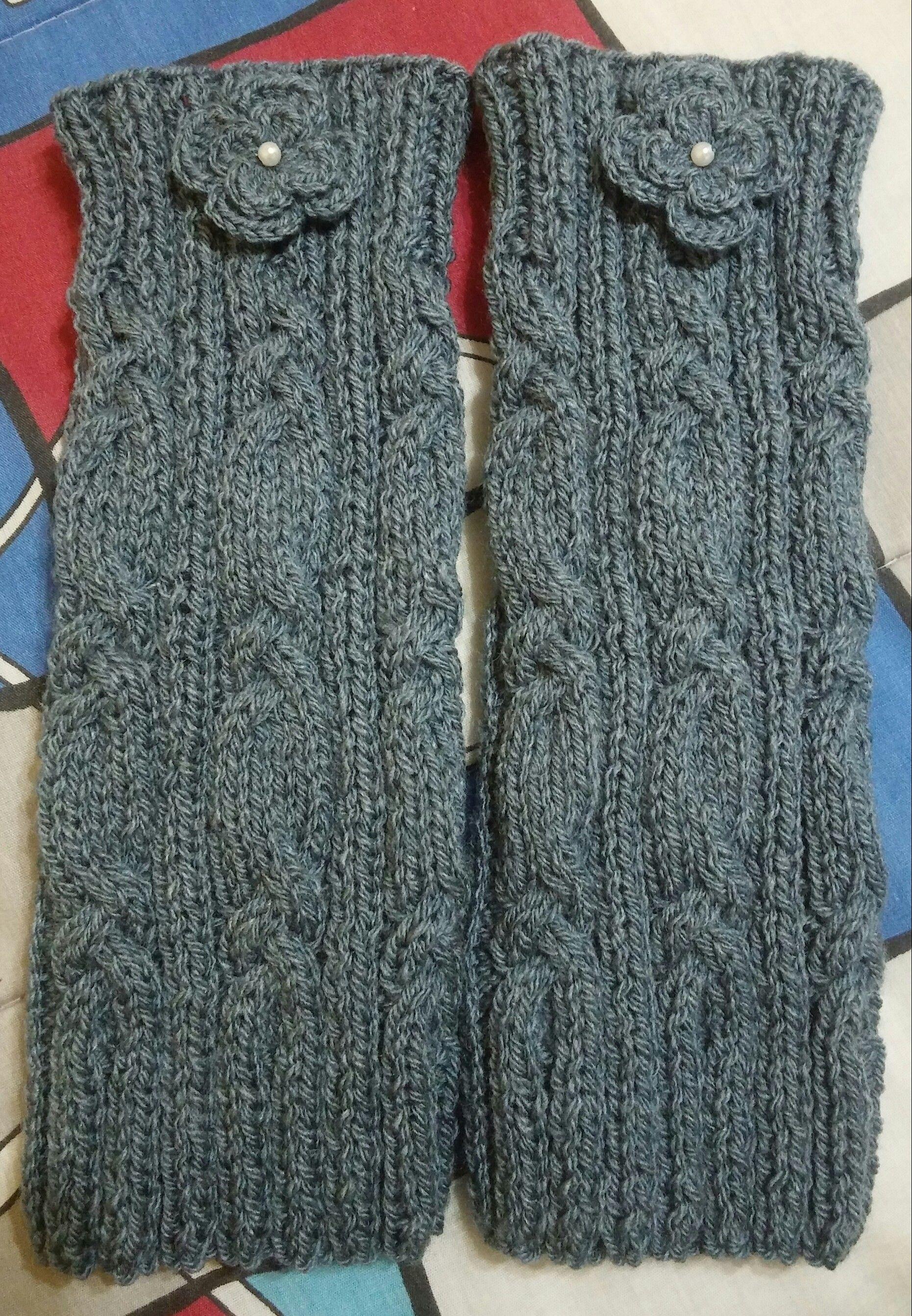 da6baa0019f6 Polaina de tricô, adulto. | Minhas artes ( tricô - crochê ...
