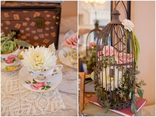 Romantic Vintage Wedding By Lyndsay London Photography Birdcage Wedding Decor Vintage Wedding Romantic Vintage Wedding Decorations