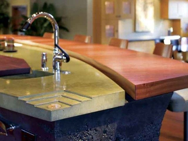 Concrete Counter Tops, Wow Are They Nice. I Totally Would Love To Outfit My