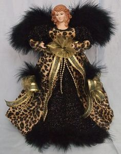 safari gold and black angel