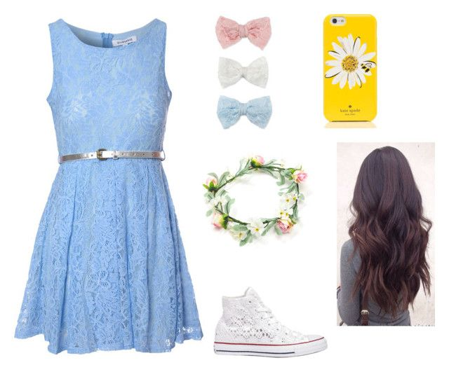 """""""Flower girl"""" by ashron on Polyvore featuring Glamorous, Converse, Decree and Kate Spade"""