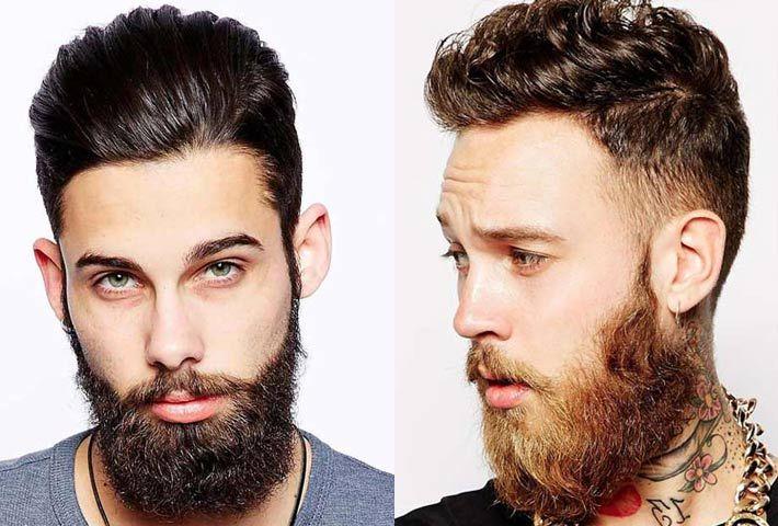 Uomo: barba e tagli capelli corti-rasati ai lati e lunghi ...