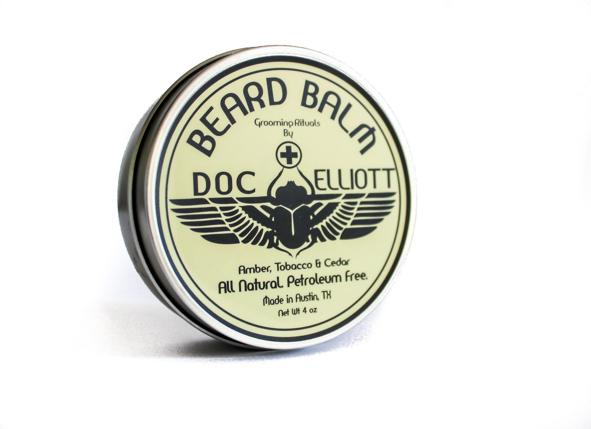 Classic beard balm white label with images beard balm