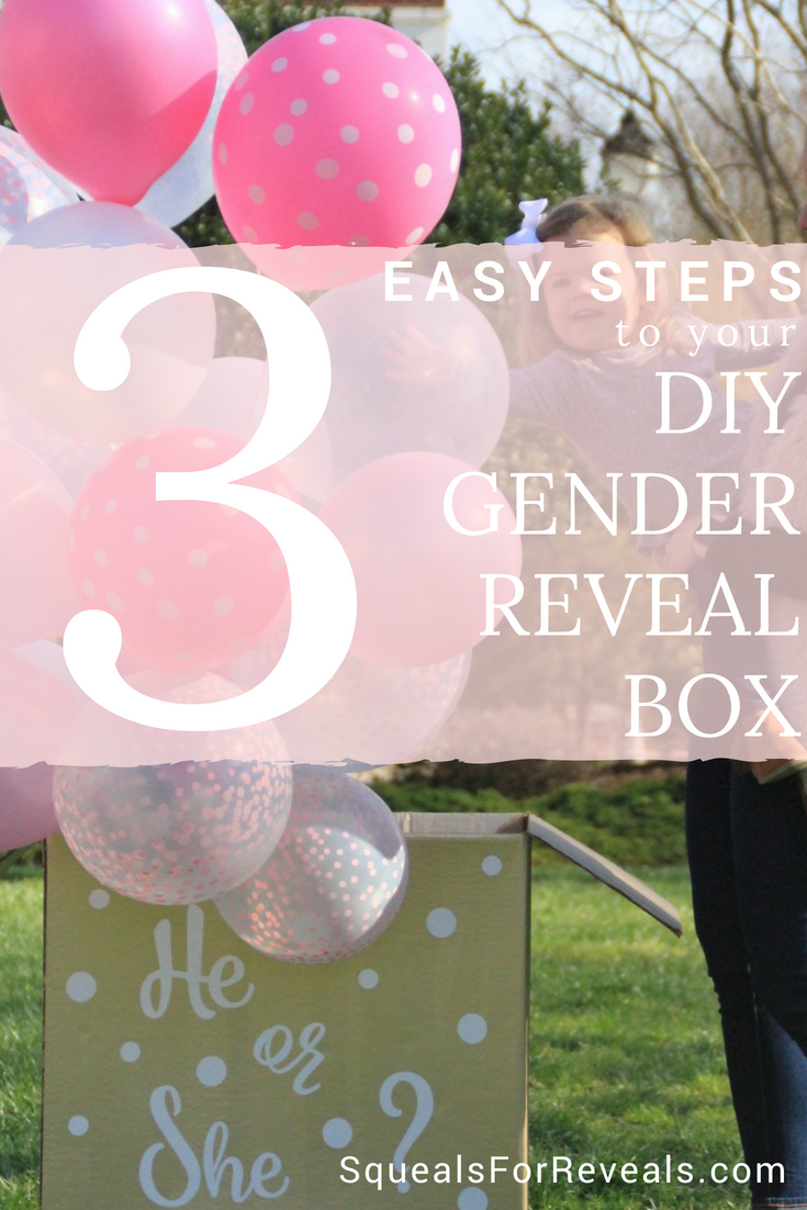 How To Create This Gender Reveal Box In 3 Easy Steps Gender Reveal Box Gender Reveal Balloons Creative Gender Reveals
