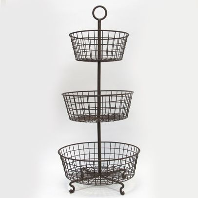 Three Tier Basket Stand From Curious Sofa 87 95 This Would Look Good With My Card And Wire Egg